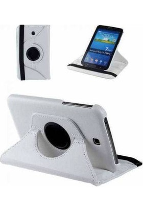 Samsung Galaxy Tab 4 10.1'' T530 360 Dönebilen Beyaz Stand Kılıf