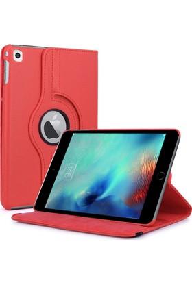 İpad Mini 3 360 Derece Döner Kılıf Kırmızı