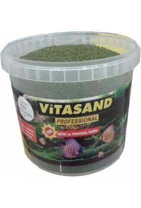 Vitasand Pro-102 Yıkanmış Akvaryum Bitki Kumu Yeşil 8,5kg