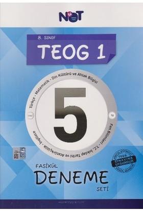 Not Yayınları 8. Sınıf Teog 1 - 5 Fasikül Deneme Seti
