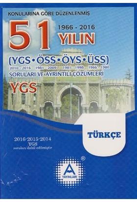 A Yayınları 51 Yılın Ygs Türkçe Soruları Ve Ayrıntılı Çözümleri