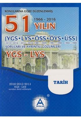 A Yayınları 51 Yılın Ygs-Lys Tarih Soruları Ve Ayrıntılı Çözümleri