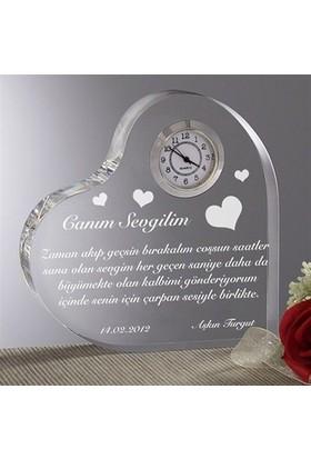 BuldumBuldum Kişiye Özel Aşk Mesajlı Kalp Saat