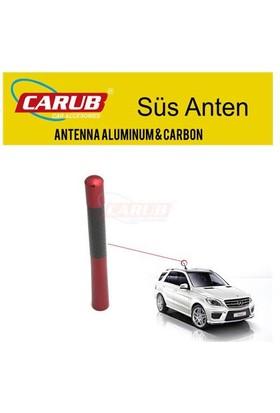 Carub Anten Tepe Metal Kırmızı-Karbon