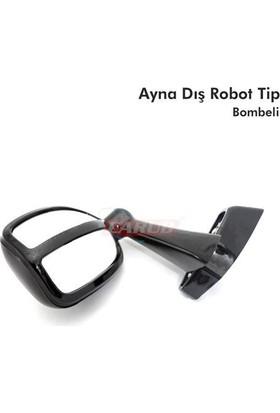Carub Ayna Dış Robot Tip Bombeli Ayaklı Siyah
