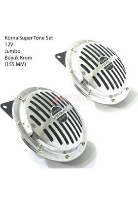 Carub Korna Super Tone Set 12V Jumbo Büyük Krom