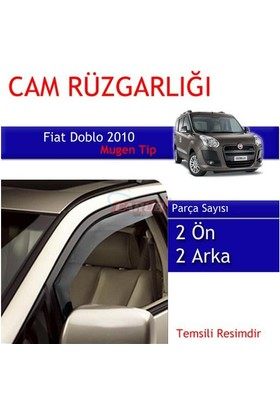 Carub Fiat Doblo 2010 Mugen Cam Rüzgarlığı 4Lü