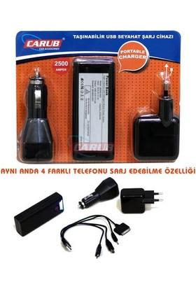 Carub Seyyar Şarj Cihazı 12-220 Acil Bataryalı