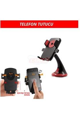 Carub Telefon Tutucu Vantuzlu Bas-Bırak Kırmızı