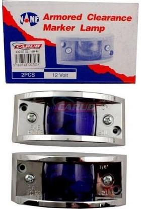 Demircioğlu Lamba Marker 12V Krom Mavi 1238 Taiwan
