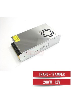 Lambada Adaptör-Trafo 17 Amper 200W 220 Den 12V