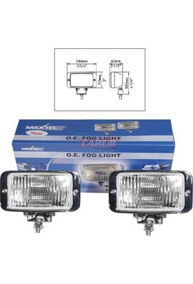 Maxtel Sis Lambası 12V 146X77Mm Krom Beyaz Jf837Cw