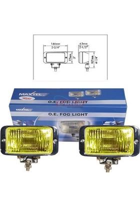 Maxtel Sis Lambası 12V 146X77Mm Krom Sarı Jf837Cy