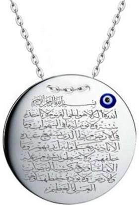 Affix Silver Gümüş Ayetel Kürsi Kolyesi