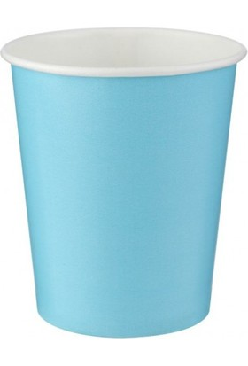 Parti Şöleni Açık Mavi Pastel Karton Bardak 8 Adet