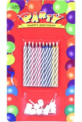 Parti Şöleni Doğum Günü Mum 1 Adet
