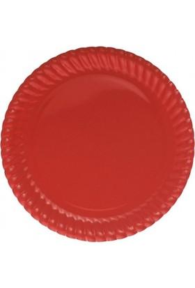 Parti Şöleni Kırmızı Karton Tabak 8 Adet