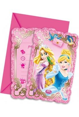 Parti Şöleni Prensesler Davetiye 6 Adet