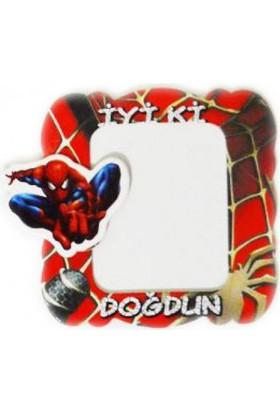 Parti Şöleni Spiderman Magnet Çerçeve