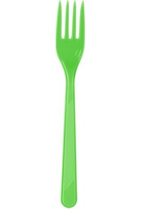 Parti Şöleni Yeşil Plastik Çatal 25 Adet
