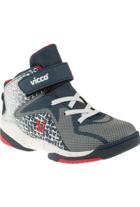 Vicco 348T079 Flex Bant Cırtlı Lacivert Çocuk Spor Ayakkabı
