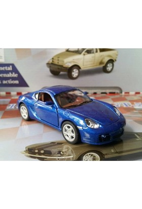Kinsmart Porsche Cayman S Metal Araba (Lacivert)