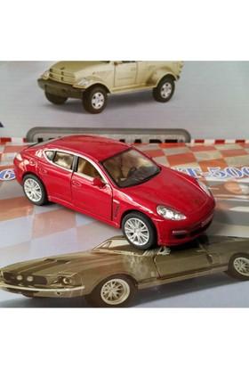 Kinsmart Porsche Panamera S Metal Araba (Kırmızı)