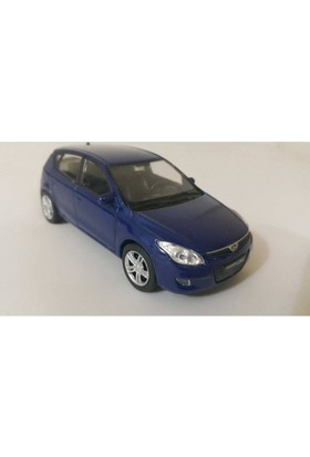 Welly 1:36 Hyundai İ30 Metal Araba Mavi