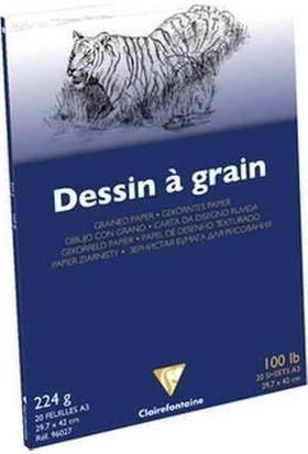 Clairefontaine Dessin a Grain İnce Dokulu Çizim Bloğu 20 Yaprak 224 gr. A3
