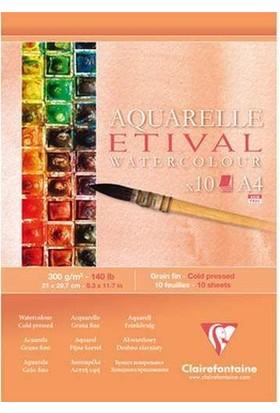 Clairefontaine Etival Suluboya Blok 10 Yaprak 300 gr. A4