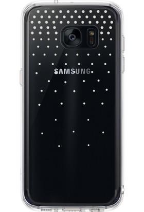 Ringke Noble Fusion Galaxy S7 Edge Taşlı Kılıf Extra Darbe Emici - Snow Clear