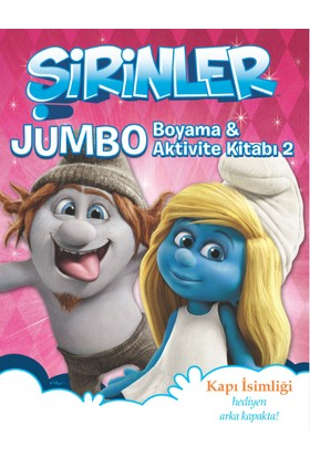 Şirinler Jumbo Boyama & Aktivite Kitabı2