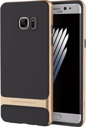 Samsung Galaxy Note FE / Fan Edition Kılıf ROCK Royce Series Hybrid Gold