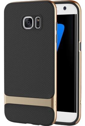 Rock Royce Series Hybrid Samsung Galaxy S7 Edge Kılıf Gold