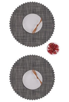 Dinner Design Coal Yuvarlak Model 40 cm