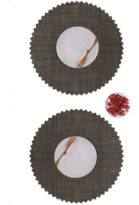Dinner Design Wenge Yuvarlak Model 40 cm