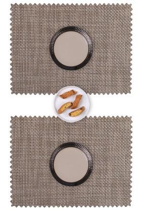 Dinner Design Walnut Dikdörtgen Model 36x48 cm