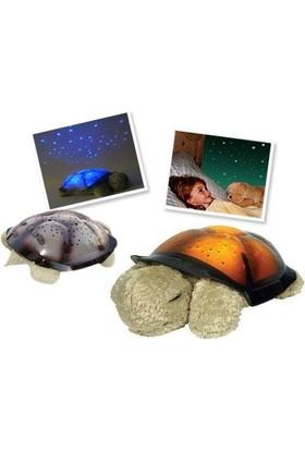 Blueway Tavana Işık Yansıtan Işıklı Peluş Kaplumbağa Müzikli Gece Lambası