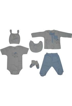 Aziz Bebe 5151 Bebek 6 Lı Hastane Çıkış Seti Ekru