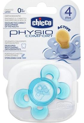 Chicco 7280311 Physio Comfort Kauçuk Emzik 4+ Ay Tekli Mavi