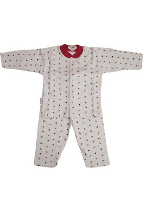 Sebi Bebe 51049 Pijama Takımı Gül Baskılı Fuşya