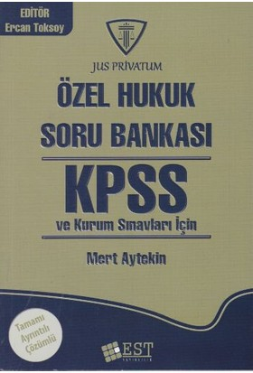 Est Yayıncılık Kpss Özel Hukuk Soru Bankası