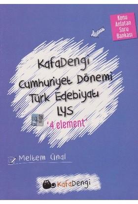 Eksen Yayınları Kafadengi Lys Cumhuriyet Dönemi Türk Edebiyatı 4 Element