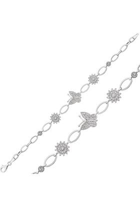 Bayan Lili Gümüş Kelebek Bileklik