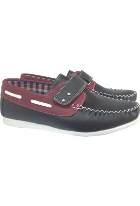 Siyah/Bordo Yerli Kaliteli Üretim Okul Ayakkabısı