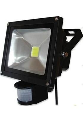 Odalight 30 W Sensörlü Cob Led Projektör Beyaz Işık