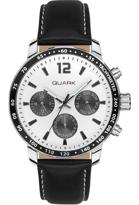 Quark Analog Deri Kordon Qc-151L-7A1 Erkek Kol Saati