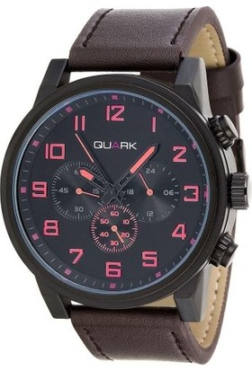 Quark Analog Deri Kordon Qc-150L-1B5 Erkek Kol Saati