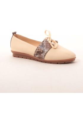 Gio&Mi Hs-Drbbt11 Bej Kahverengi Yılan Ayakkabı