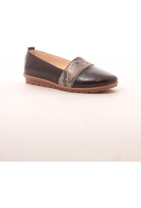 Gio&Mi Hs-Drbbt05 Kahverengi Yılan Ayakkabı